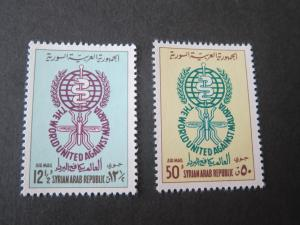 Syria 1962 Sc 267-8 set MNH