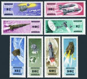 Mongolia 361-368,MNH.Mi 365-372. Russian Space Research 1964.Vostok-1,2,Mars,