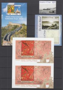 Tonga Sc 1226-1229 MNH. 2013 issues, 3 cplt sets, China, Tin Can Island, VF+