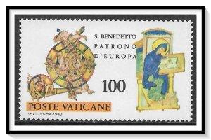 Vatican City #669 St Benedict MNH