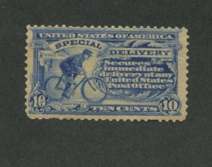 1902 United States Special Delivery Postage Stamp #E6 Mint Never Hinged /w Fault
