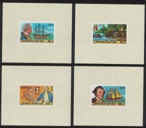 Upper Volta Captain James Cook 4 De-Luxes 1978 MNH SG#487-490 MI#719-722