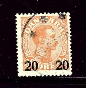 Denmark 176 Used 1926 surcharge