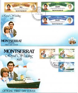 Montserrat - 1981 Royal Wedding FDC Set SG 510-515