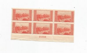 US SCOTT# 741, PLATE BLOCK OF 6, MNH, OG