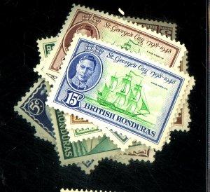 BR HONDURAS #131-142 MINT VF OG LH Cat $11