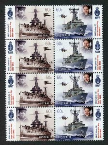 Australia SG3604/5 2011 Royal Australian Navy Block of 8 U/M