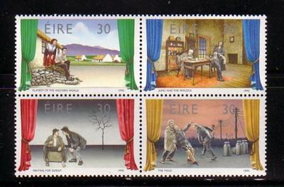 Ireloand Sc 814-7 1990 Theatre stamp set mint NH