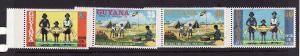 D3-Guyana-Sc#201-4-unused NH set-Girl Guides-1974-