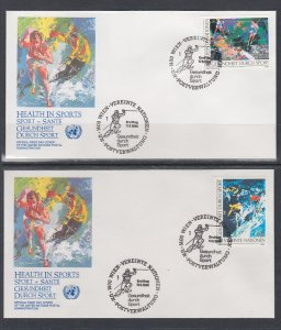 UN Vienna 84-85 Sports UN Postal Administration U/A Set of Two FDC
