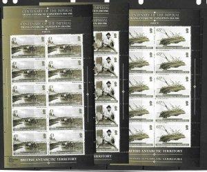 BRITISH ANTARCTIC TERR. SG644/9 2014 TRANS-ANTARCTIC EXPEDITION SHEETLET MNH