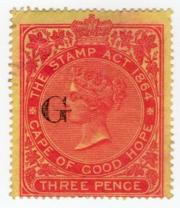 (I.B) Griqualand West Revenue : Duty Stamp 3d