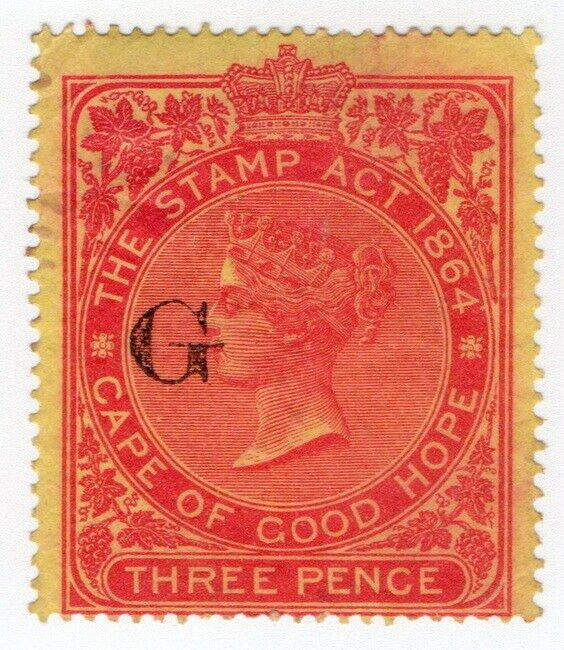(I.B) Griqualand West Revenue : Duty Stamp 3d