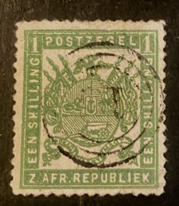 Transvaal Scott 18 Coat of Arms One Schilling-Used