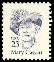 PCBstamps  US #2181  23c Mary Cassatt, 1988, MNH, (1)