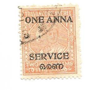 India Travancore-Cochin 1949 - U - Scott #4G *