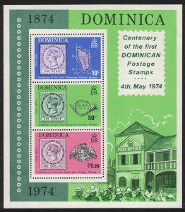 Dominica Stamp Centenary MS SG#MS421