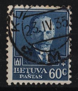 Lithuania 1934 60th Birthday of President Antanas Smetona 60c (1/3) USED