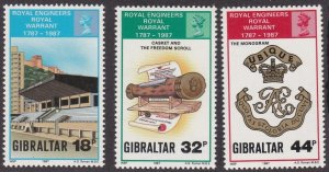 Gibraltar # 505-507, Royal Engineers 200th Anniversary, NH, 1/2 Cat.