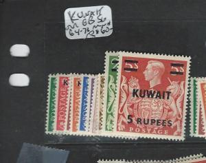 KUWAIT (P1403B) ON GB KGVI SG 64-74  MNH