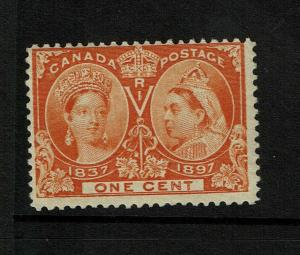 Canada SC# 51, Mint Very Lightly Hinged, ink remnant - S8499