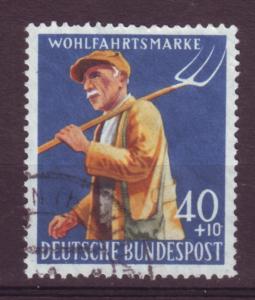 J11083 JL stamps various @20%scv 1958 germany used hv of set farmer