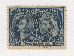 Canada Victoria Jubilee Used Stamp #54-5c Used SON F/VF Guide Value = $40.00