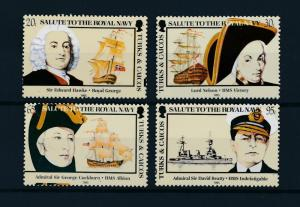 [81272] Turks & Caicos Islands 1985 Ships Boats Royal navy Albion Victory MNH