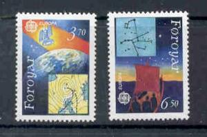 Faroe Islands Sc 220-1 1991 Europa stamp set mint NH