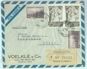 94062 - ARGENTINA - POSTAL HISTORY - REGISTERED COVER to SWITZERLAND 1955