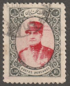 Persian stamp, Scott# 781, used hinged, 1.20R, greay black and rose, B-56