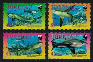 Tokelau WWF Pelagic Thresher 4v SG#336-339 SC#308-311 MI#322-325