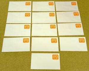 U604, 5.2c U.S. Postage Envelopes qty 16