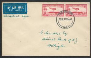 NEW ZEALAND 1936 first flight cover Christchurch to Wellington.............55922
