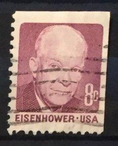 US #1395 Used F/VF - Eisenhower 8 cent