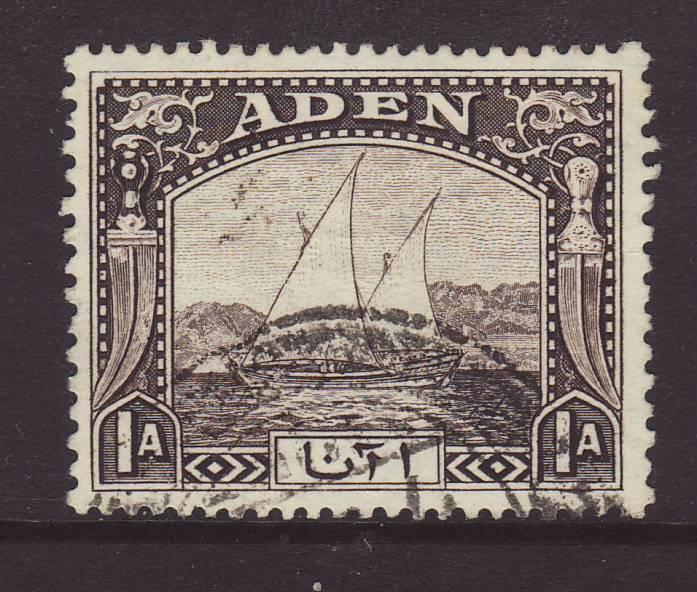 1937 Aden 1 Anna Dhow Fine Used
