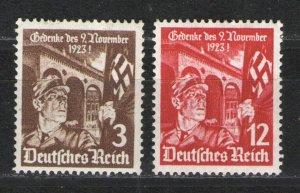 Germany - Third Reich 1935 Sc# 467-468 MHR G/VG Putsch set