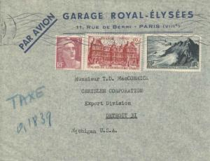 France 12F Luxembourg Palace and 20F Pointe du Raz and 3F Marianne Gandon 194...