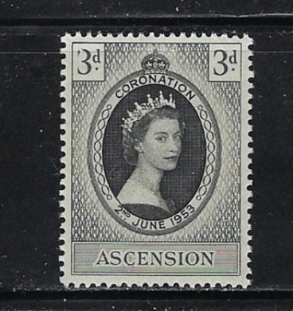 Ascension 61 Lightly Hinged 1953 QEII Coronation