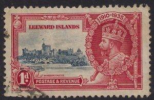 Leeward Islands 1935 KGV 1d Silver Jubilee Used SG 88 ( L201 )