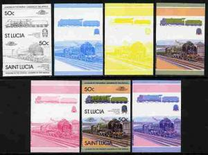 St Lucia 1983 Locomotives #1 (Leaders of the World) 50c L...