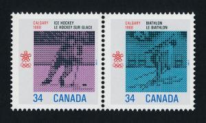 Canada 1112a MNH Winter Olympics, Ice Hockey, Biathlon, Sports