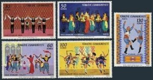 Turkey 1820-1824,MNH.Michel 2147-2151. Folk Dances,1969.