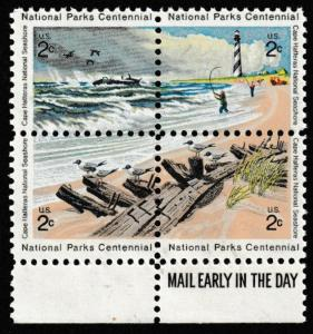 SC# 1448-51 - (2c) - Cape Hatteras Natl Seashore - MNH LR - MAIL EARLY block