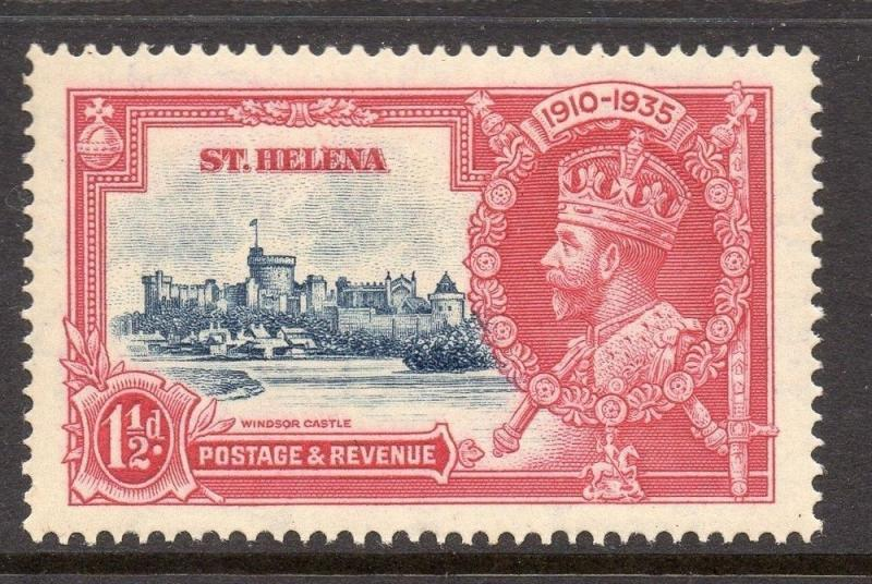 St Helena 1938 GVI Early Issue Fine Used 1.5d. 083329