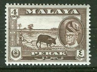 Malaya-Perak # 129 Rice Field  (1) VF Unused VLH