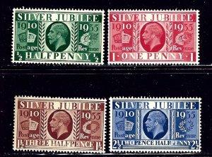 Great Britain 226-29 MNH 1935 Silver Jubilee    (ap2105)