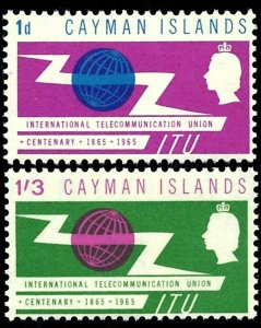 CAYMAN IS - 1965 - QE II - ITU - TELECOMMUNICATIONS - MINT - MNH SET!
