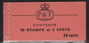 Fiji 1969 20c Booklet SG# SB6 NH
