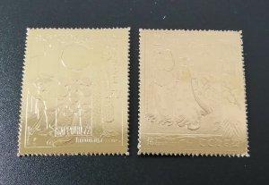 NW0302 CHAD ART OSAKA 70 OLYMPIC GAMES SAPPORO 1972 !!! GOLD 2ST MNH